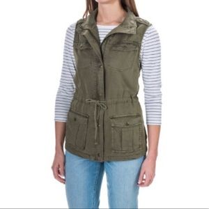 Max jeans olive green vest size small